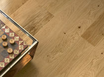 Engineered parquet flooring / rough sawn / natural oil