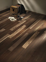 Engineered parquet flooring / American walnut / grooved
