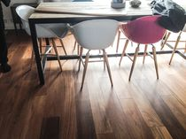 Engineered parquet flooring / teak / oiled