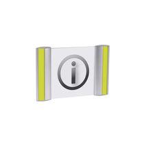 Aluminum door pictogram / indoor