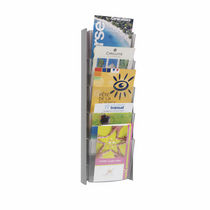 Wall-mounted display rack / periodicals / plastic