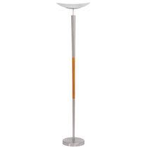 Floor-standing lamp / contemporary / wooden / glass