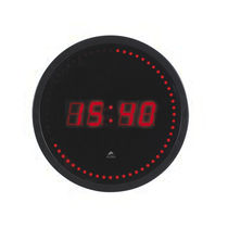 Contemporary clock / digital / wall-mounted / ABS