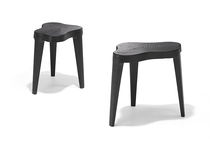 Contemporary side table / wooden