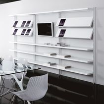 Wall-mounted bookcase / contemporary / for offices / commercial