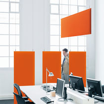 Ceiling acoustic panel / fabric / colored / for public buildings