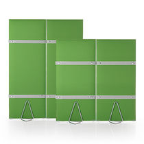 Interior fitting acoustic panel / fabric / self-supporting / for public buildings