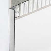 Aluminum edge trim / outside corner / for tiles