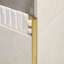 Brass edge trim / for tiles / rounded edge