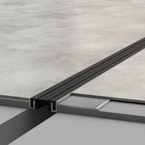 Aluminum expansion joint / street / for floors / for parking lots