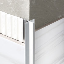 Aluminum edge trim / outside corner / facade / for partition walls