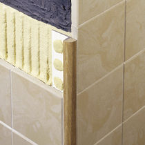 Wooden edge trim / for tiles / rounded edge