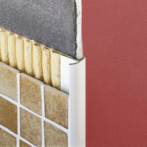 Aluminum edge trim / for tiles / outside corner