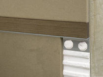 Wooden junction profile / aluminum / for tiles / trim with decorative insert