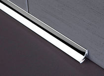 Stainless steel edge trim / for tiles / inside corner