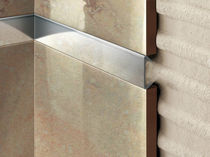 Steel junction profile / stainless steel / for tiles