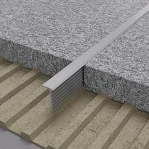 Aluminum junction profile / brass / outside corner / for tiles