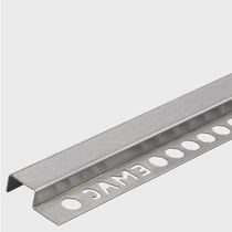 Stainless steel edge trim / for partition walls