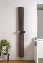 Hot water towel radiator / electric / chrome / contemporary