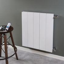 Hot water radiator / metal / contemporary / rectangular