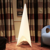 Floor-standing lamp / original design / plastic / fluorescent