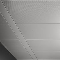 Metal suspended ceiling / tile / acoustic / water-repellent