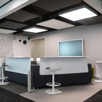 Mineral wool suspended ceiling / fabric / laminate / floating