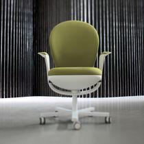 Contemporary office armchair / polypropylene / metal / fabric