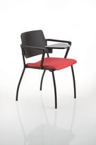 Contemporary visitor chair / fabric / polypropylene / with armrests