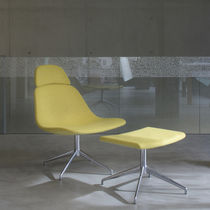 Contemporary footrest / fabric / leather / for offices