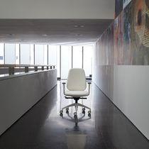 Contemporary office armchair / fabric / aluminium / on casters