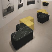 Contemporary pouf / fabric / square / modular