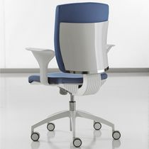Fabric office armchair / on casters / with armrests / adjustable-height