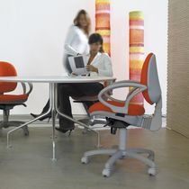 Contemporary office chair / fabric / with armrests / upholstered