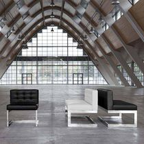 Visitor fireside chair / contemporary / without armrests / cantilever