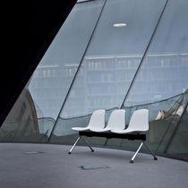 Fabric beam chairs / polypropylene / 3-seater / indoor