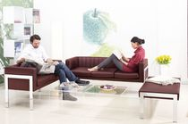 Contemporary sofa / leather / commercial / 3-seater