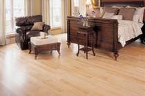 Solid wood flooring / nailed / birch / semi-gloss