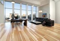 Engineered wood flooring / glued / hardwood / semi-gloss