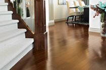 Solid wood flooring / nailed / birch / semi-gloss