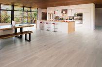 Engineered wood flooring / glued / white oak / matte