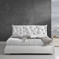 Double bed / contemporary / upholstered / fabric