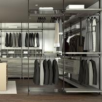 Corner walk-in wardrobe / contemporary / lacquered aluminum
