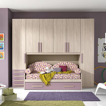 Contemporary wardrobe / lacquered wood / with swing doors / girl's