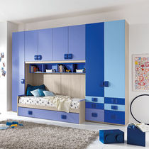 Contemporary wardrobe / lacquered wood / with swing doors / boy's