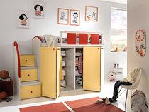 Loft bed / single / contemporary / child's unisex