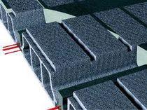 Structural floor with girder-slabs / concrete / concrete interjoist / prestressed slab