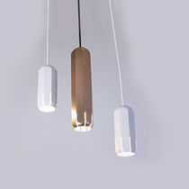 Pendant spotlight / indoor / LED / aluminum