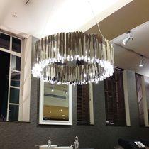 Pendant lamp / contemporary / stainless steel / handmade