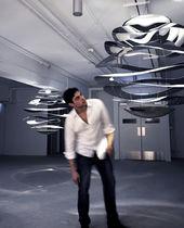 Pendant lamp / original design / stainless steel / LED